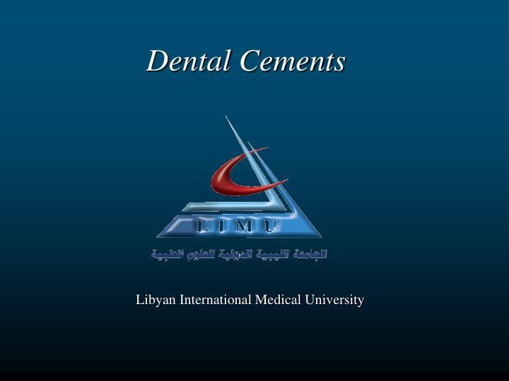 dental cements n.
