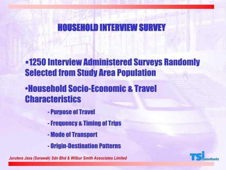 HOUSEHOLD INTERVIEW SURVEY