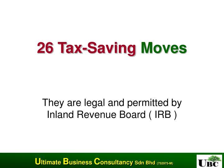 26 tax saving moves n.