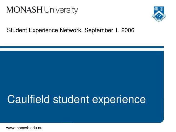 student experience network september 1 2006 n.