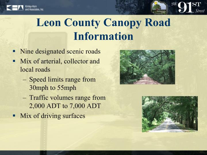 Leon County Canopy Road Information