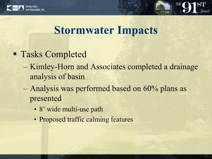 Stormwater Impacts