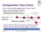 distinguishable failure events