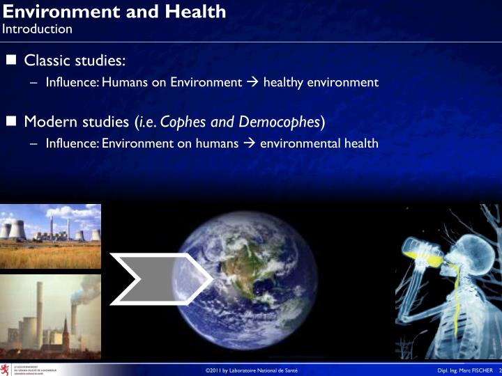 Environment and health introduction