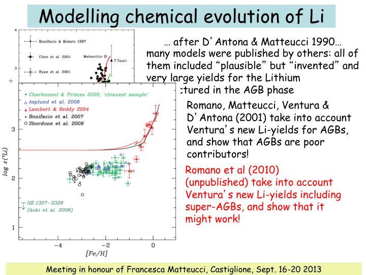 Romano et al (2010) (unpublished) take into account Ventura