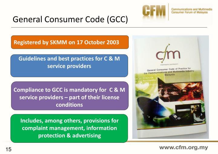 General Consumer Code (GCC)