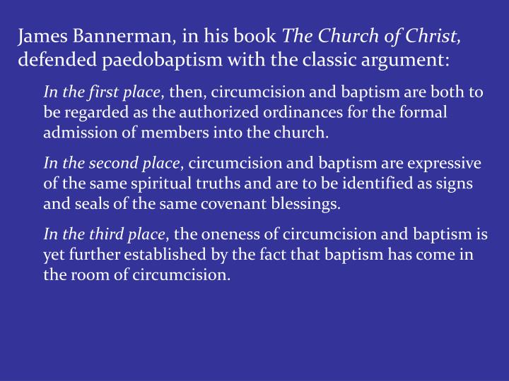James Bannerman, in his book