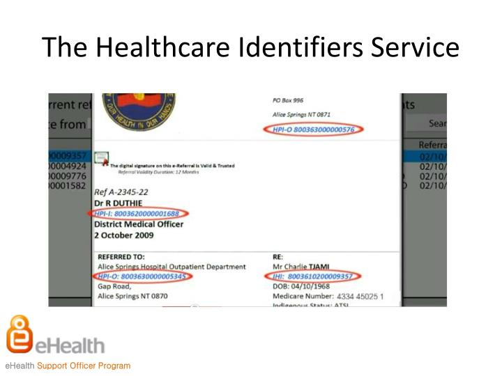 The Healthcare Identifiers Service