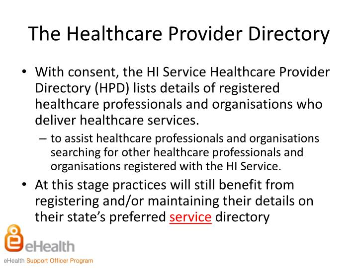 The Healthcare Provider Directory