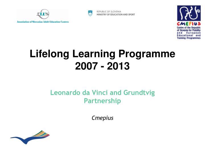 lifelong learning programme 2007 2013 n.