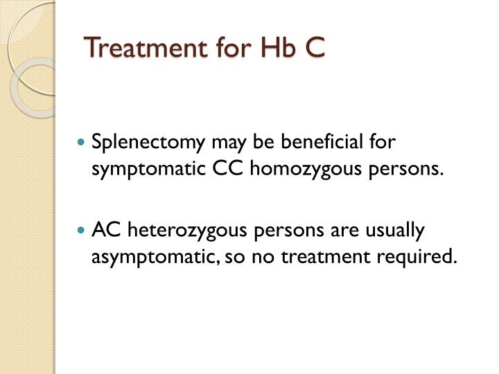 Treatment for Hb C