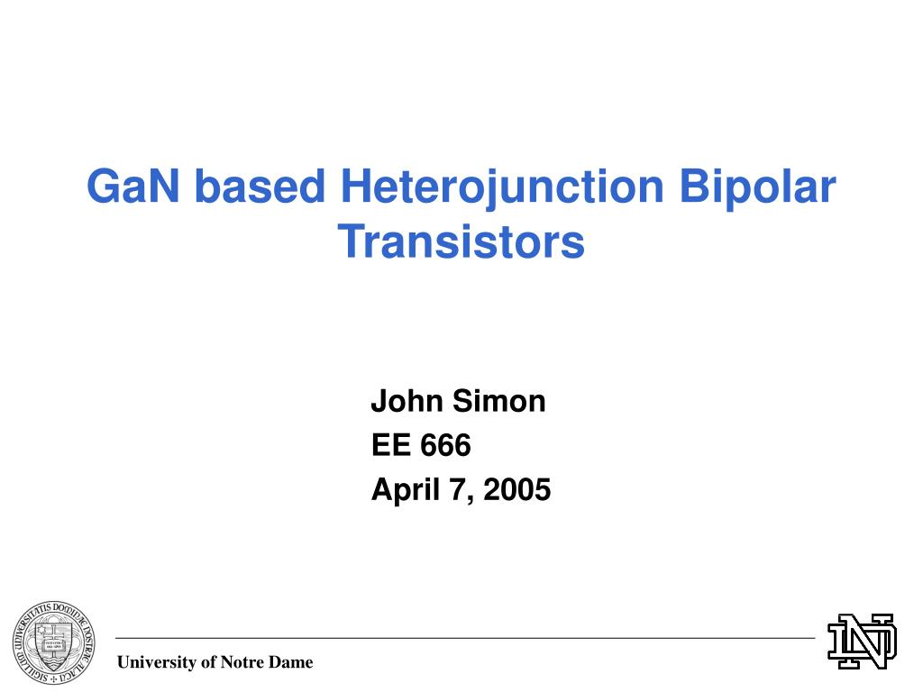 1 heterojunction bipolar transistors heterojunction bipolar.