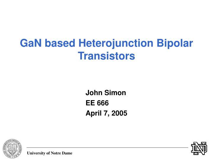 Ppt iii-v heterojunction bipolar transistors powerpoint.