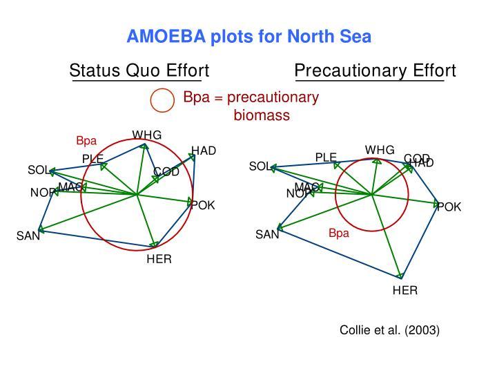 AMOEBA plots for North Sea