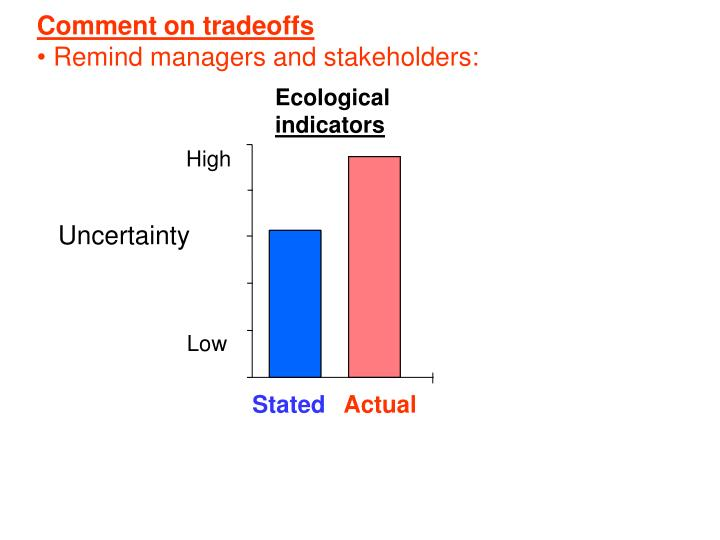 Comment on tradeoffs
