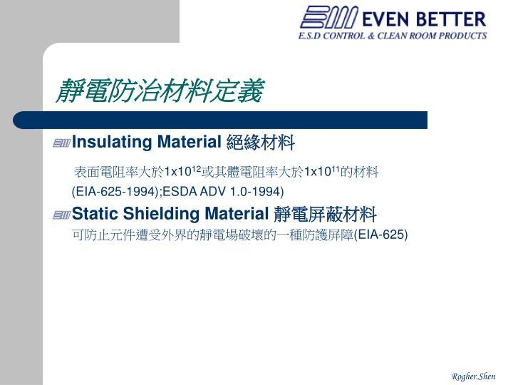 靜電防治材料定義