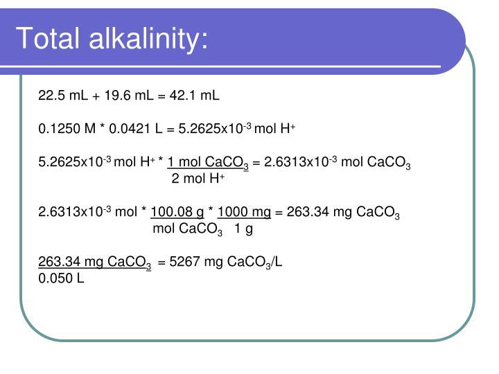 Total alkalinity:
