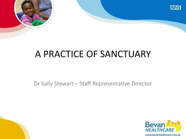 a practice of sanctuary n.
