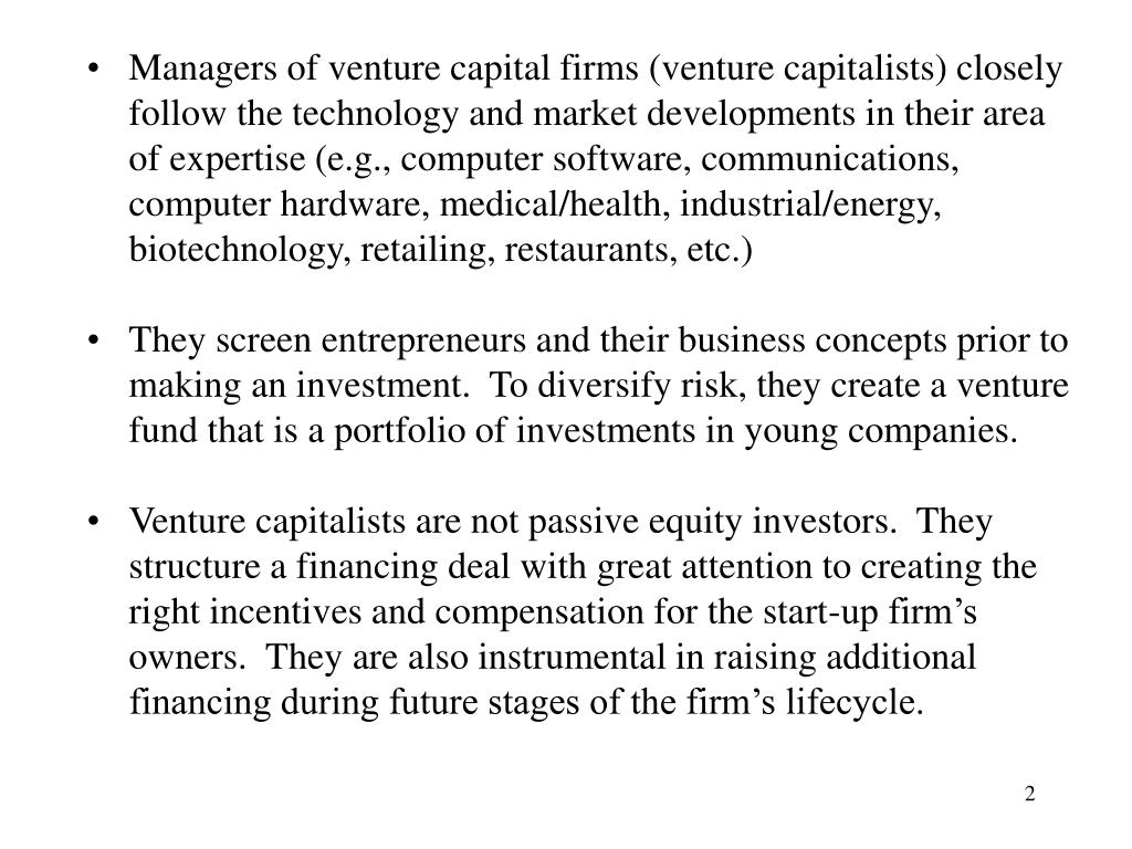 PPT - Venture Capitalists PowerPoint Presentation - ID:3308740