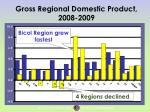 gross regional domestic product 2008 2009