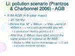 li pollution scenario prantzos charbonnel 2006 agb
