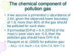 the chemical component of pollution gas