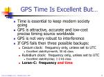gps time is excellent but