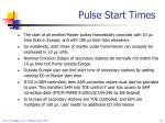 pulse start times