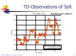 td observations of sylt