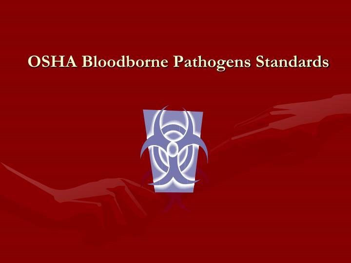 osha bloodborne pathogens standards n.