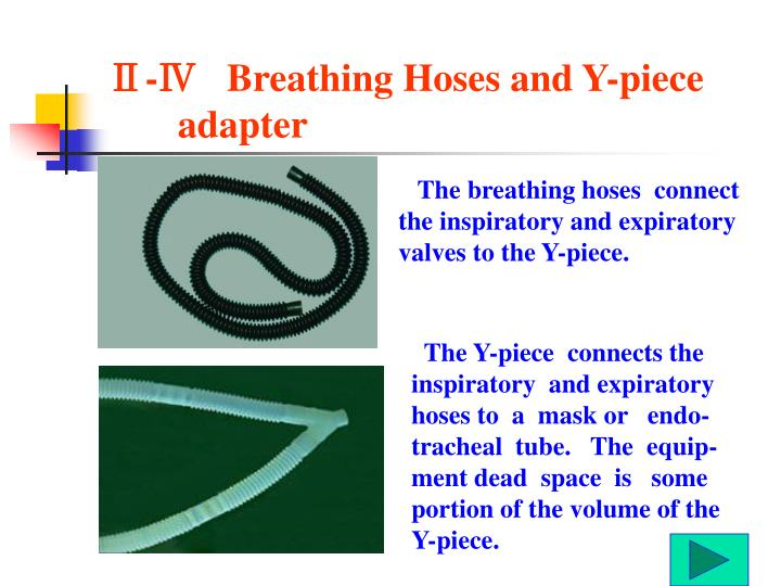 Ⅱ-Ⅳ   Breathing Hoses and Y-piece adapter