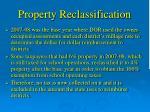 property reclassification