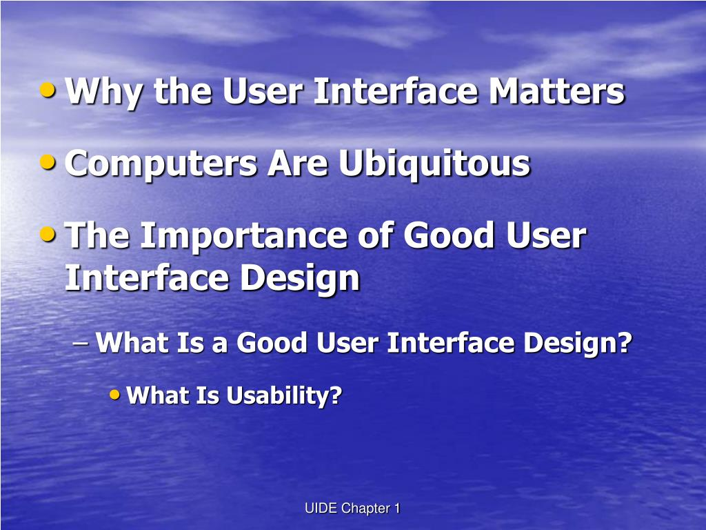 Ppt Chapter 1 Introducing User Interface Design Powerpoint Presentation Id 3309056