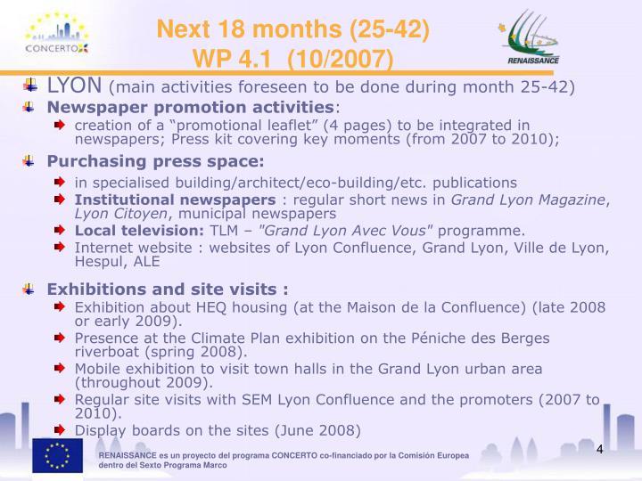 Next 18 months (25-42)