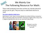 we mainly use the following resource for math