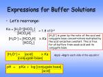 expressions for buffer solutions