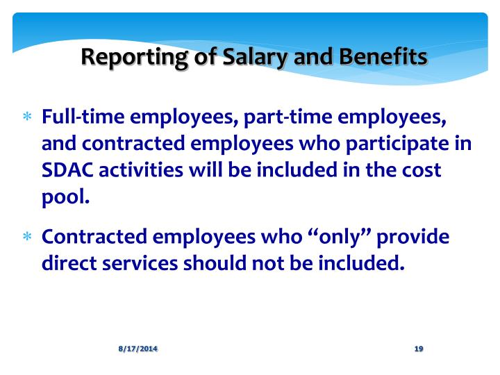 Reporting of Salary and Benefits
