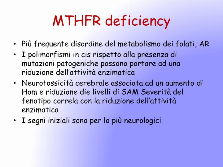 MTHFR deficiency