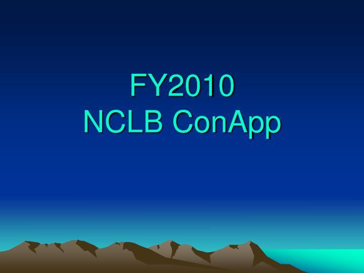 fy2010 nclb conapp n.