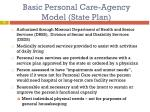 basic personal care agency model state plan