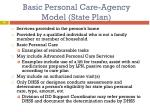 basic personal care agency model state plan1