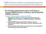 dhss division of senior and disability services home and community based services manual