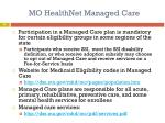 mo healthnet managed care