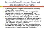 personal care consumer directed model state plan cds1