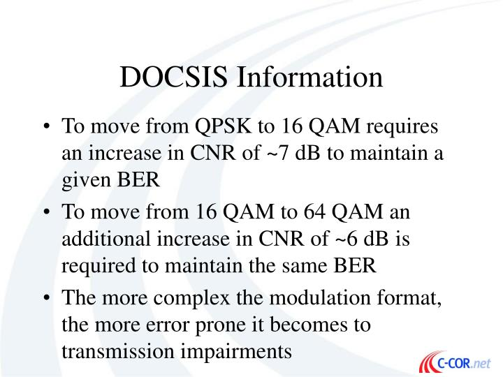 DOCSIS Information