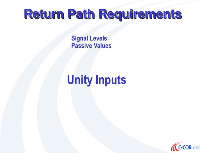 Return Path Requirements