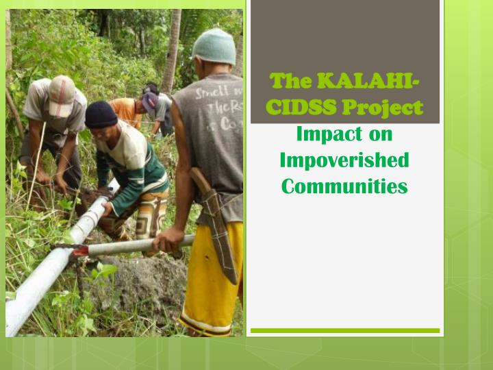 the kalahi cidss project impact on impoverished communities n.