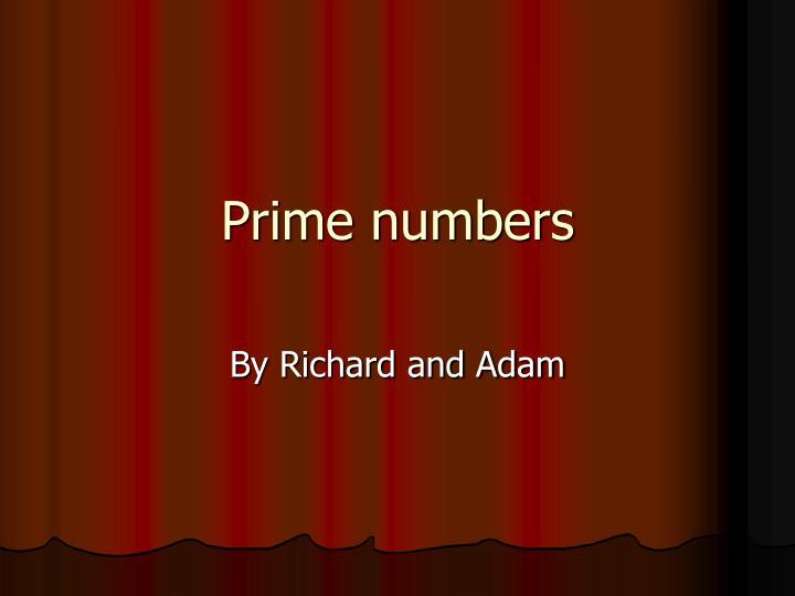 prime numbers n.
