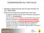 considerazioni sul fair value1