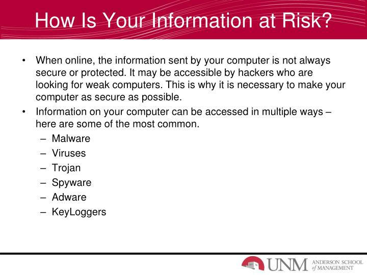 How Is Your Information at Risk?